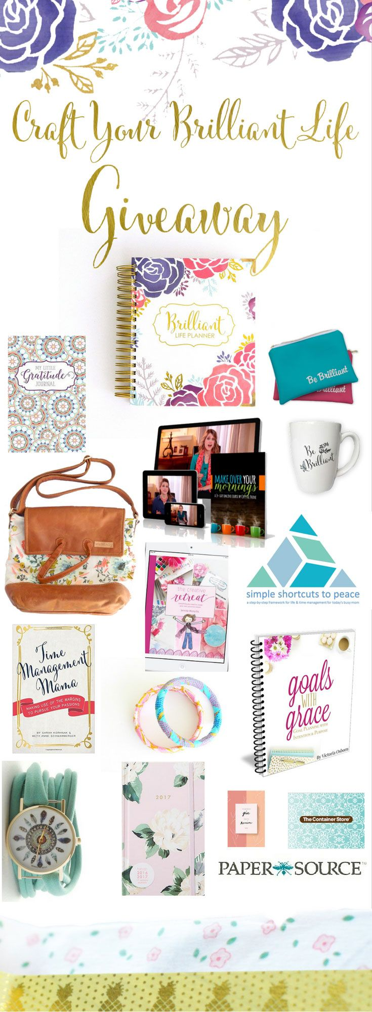 Oh my goodness - squealing over this! HUGE planner + intentional living giveaway with over $1300 in prizes. Win a Brilliant Life Planner, Better Life Bag, $200 to The Container Store, Anthropologie planner, and SOO much more. | 2017 planners for women