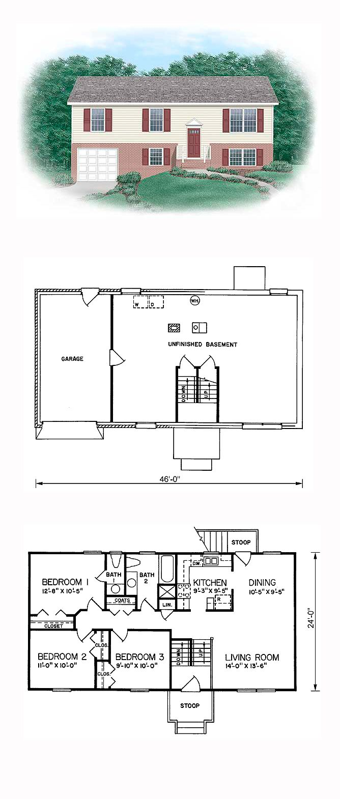 16 best split level house plans images on pinterest cool house split level cool house plan id chp 24149 total living area 1104