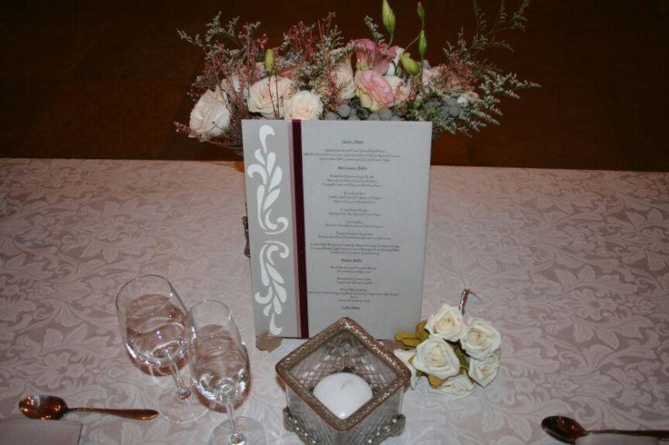 Menu boards for wedding