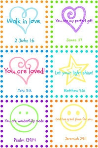 Free Printable Scripture Lunch Box Notes   Frugal & Focused