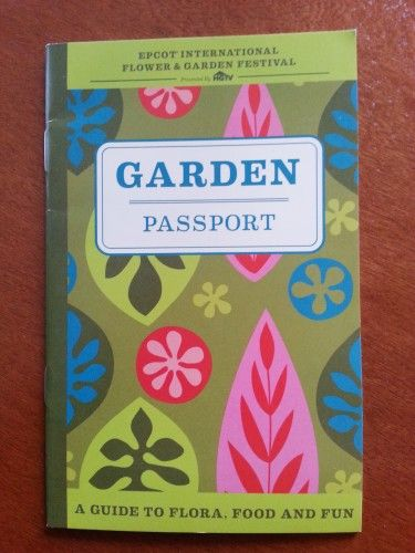 Free Epcot Flower & Garden Festival Passport! Has a checklist for all topiaries and menu list for foods you might want to try!