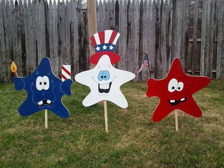 4th of July Decoration, Patriotic Decor, USA Decor Stars Red White and Blue Wood Yard Art Lawn Ornament by MikesYardDisplays on Etsy https://www.etsy.com/listing/228650699/4th-of-july-decoration-patriotic-decor