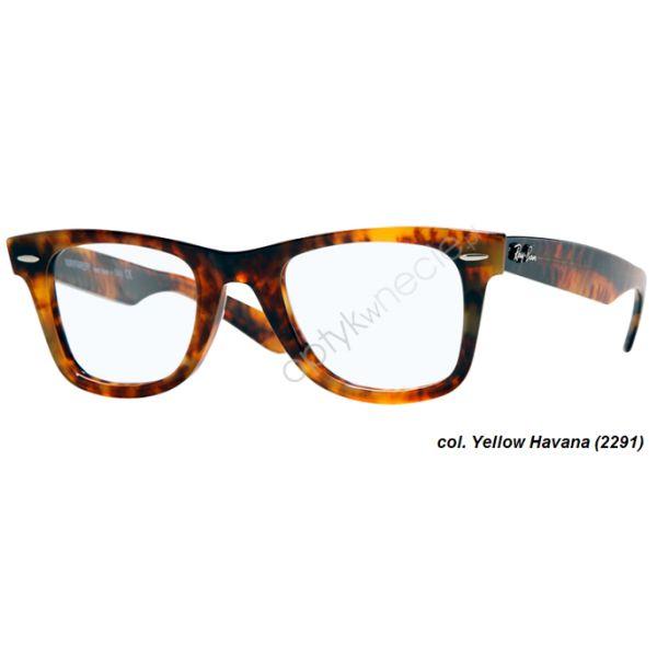 #Okulary korekcyjne #RayBan:: Original #Wayfarer rb 5121 col. 2291 yellow avana