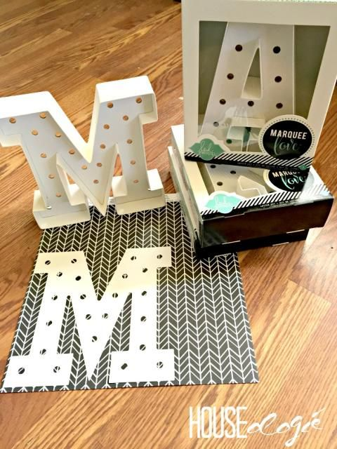 Check out these #Thrifty #DIY marquee letters.