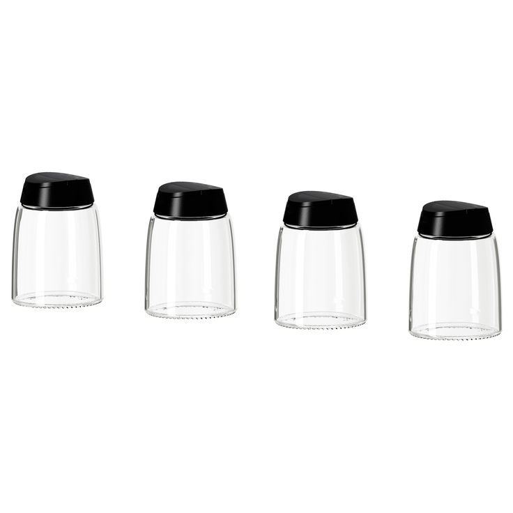 IKEA Spice Jars. These can be easily labeled. They come with tops for dispensing the contents. $3.99 for 4