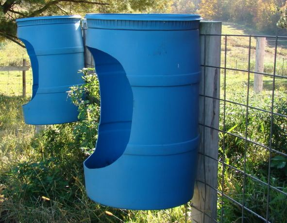 idea for horse mineral feeder
