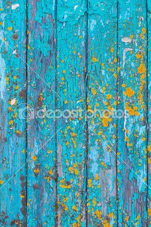 texture de fond bois peint bleu — Image #44031773