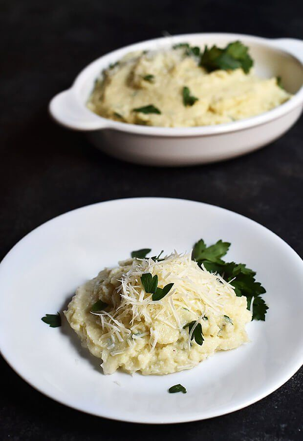Mashed Cauliflower with Parmesan Cheese and Truffle Oil | Ruled Me