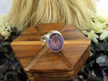 925 Sterling Silver Amethyst Gemstone Ring Jewelry