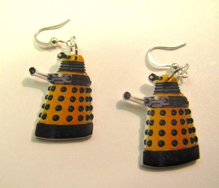 Dr.Who Earrings-Dalek,Matt Smith. $5.95, via Etsy.