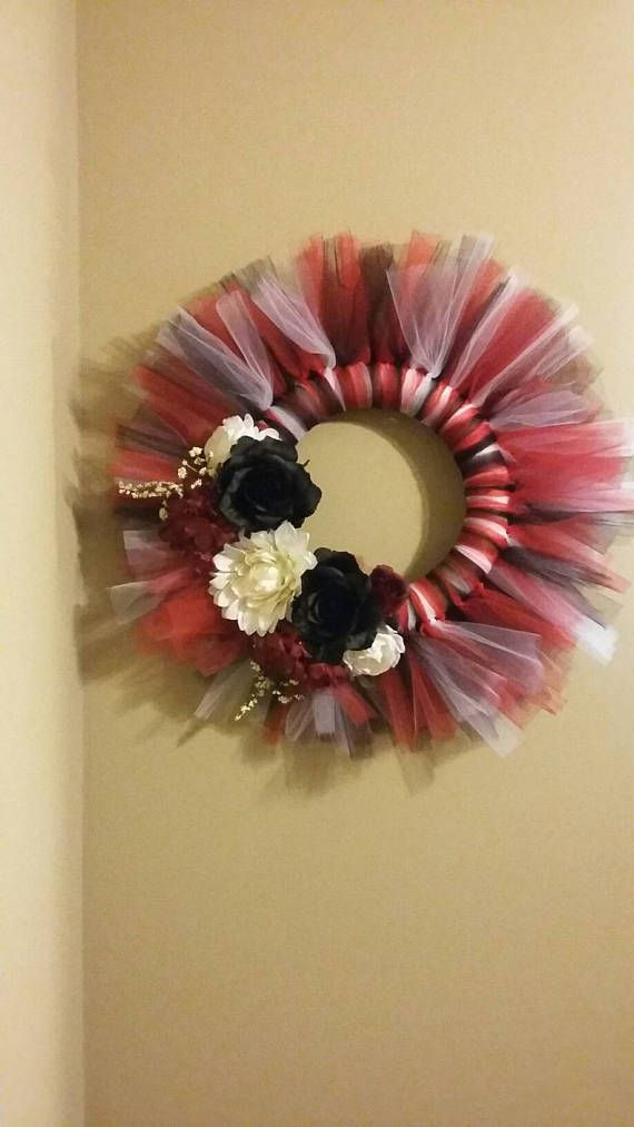 AR Razorback CHI Bulls or  AZ Cardinals Tulle Wreath