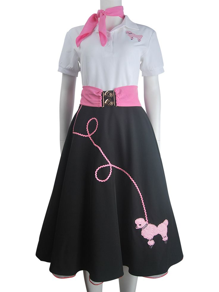 Hip hop fashion poodle skirt halloween costume daily wear women kids girls black