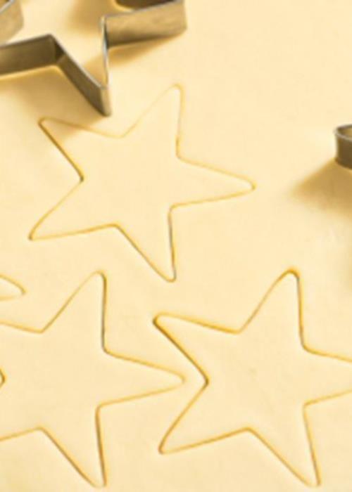 Bolachas estrelas de Natal.