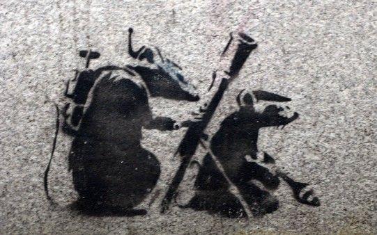 Graffiti Banksy.