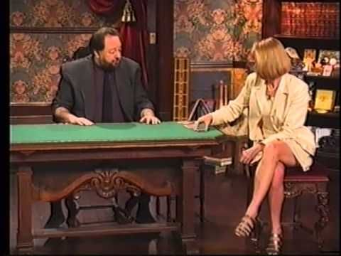 Ricky Jay - 52 assistants.  This is a fabulous performance about card artistry.