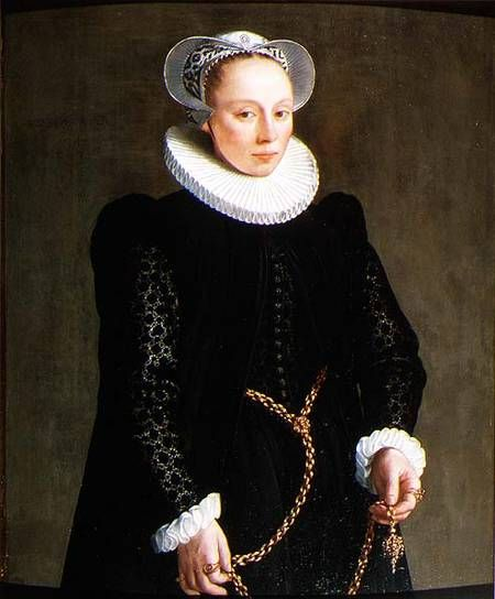 Portrait of a lady aged 24, 1587. Herman Van der Mast