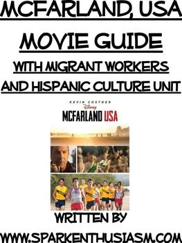 This 125+ page McFarland, USA Movie Guide with Migrant Workers and Hispanic Culture Unit in Spanish has all of the vocabulary, cultural information, and enrichment activities you need to teach this wonderful movie.