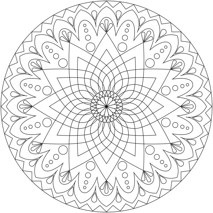 Flower Abstract Coloring Pages : 51 best mandala coloring pages images on pinterest