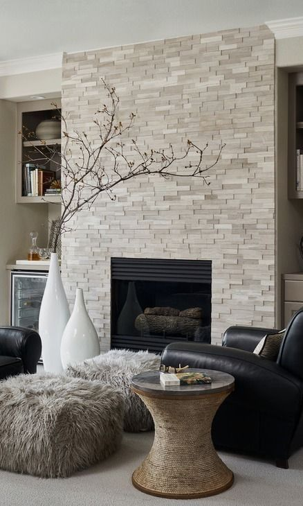 #homedesign #livingroomdecor #inspiration | Transitional living room in Denver with beige walls, carpet and a standard fireplace. — Houzz