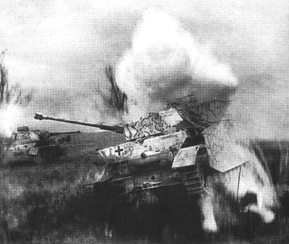 Tanks out of combat during the fighting in Kursk, 1943