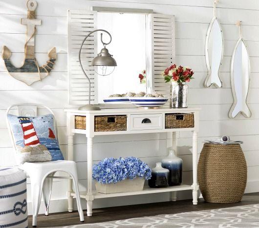 Beach House Entry Tables: 92 Best Coastal Entryways & Hallways Images On Pinterest