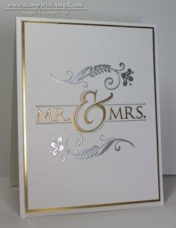 Simply said!  Mr. & Mrs. -Stampin' Up! - Stamp With Amy K
