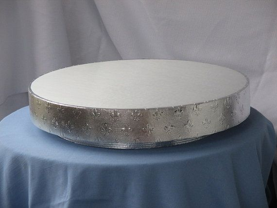 Grooms Wedding Cake Stand 16 Inch Fleur De Lis By BezInnovations