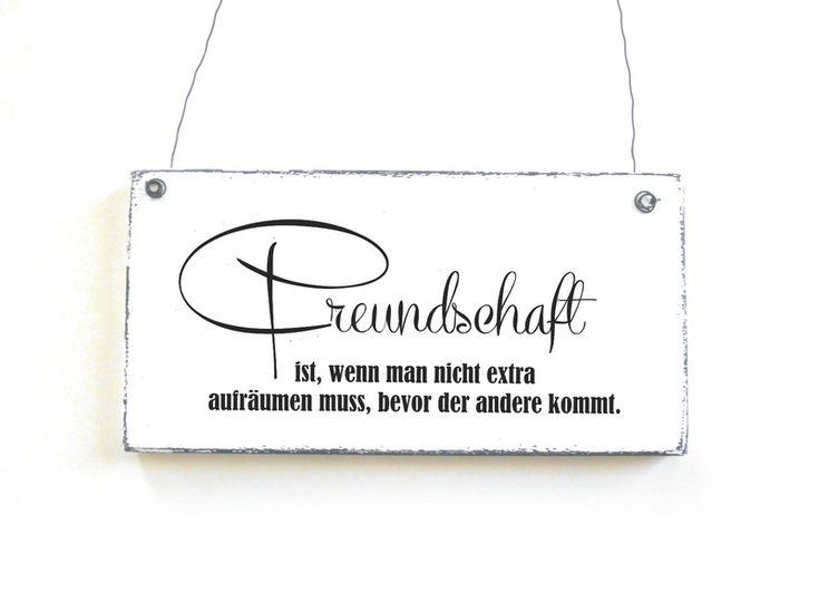 FREUNDSCHAFT  Dekoschild Türschild Shabby Vintage von DöRPKIND auf www.doerpkind.de