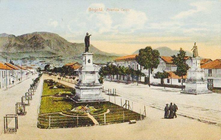 Avenida Colón en Bogotá hacia 1920