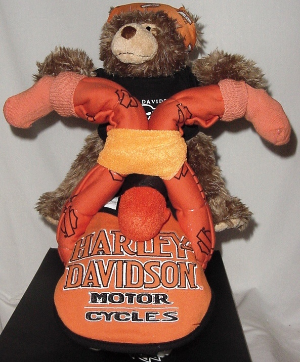 Front View Of Harley Davidson Diaper Motorcycle Made By Baby Cakes And More