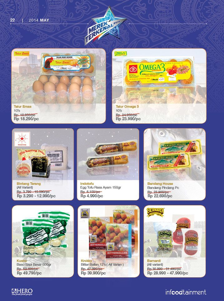 Dapatkan berbagai telur dengan harga ekonomis hanya di Hero Supermarket. Solusi tepat dalam berbelanja.