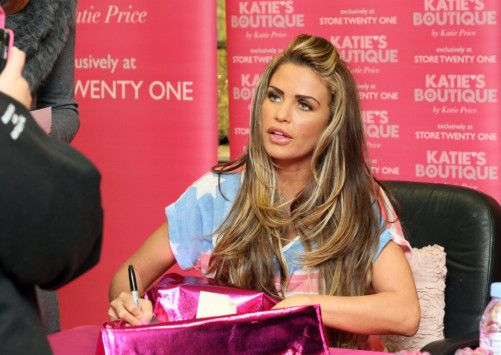 Picture by BRIGHTON TOGS/Skye Brackpool www.brightontogs.com 07973 677 017 01273 275162  2012 March 09  Katie Price has teamed up with Store Twenty One  the value high street retailer  to produce an exclusive range of lingerie, nightwear and swimwear.