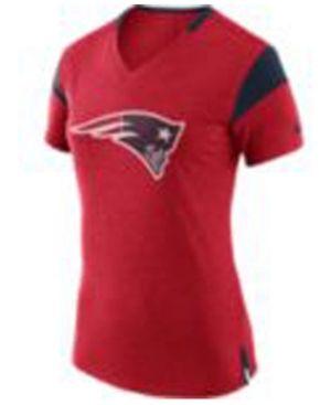 Nike Women's New England Patriots Fan V Top T-Shirt - Red XXL