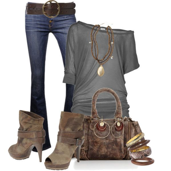 : Shoes, Jeans Grey, Style, Cute Outfits, Fall Outfits, Fall Looks, Casual Looks, Brown Boots, Belts