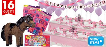 Heart My Horse Party Supplies - Balloons, Decorations, Party Favors, Tableware…