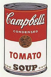 Campbell's Soup i, 1968 by Andy Warhol. Warhol was the central artist of the Pop Art movement, an style of art incorporating popular culture and imagery, and echoing the themes of Dadaism and Abstract Expressionism. Warhol started out as a magazine illustrator, but ended up living the life of a rock star. The highest price ever paid for his work was $100million, one of the most expensive paintings ever sold.