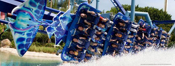 Manta, uma das melhores montanhas-russas de Orlando!