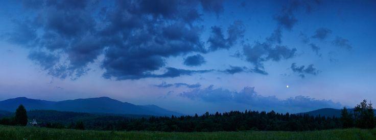 Moon over the Bieszczady by Jurek Rybak on 500px
