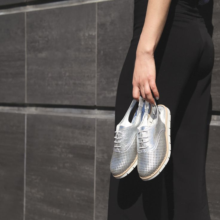 Shine bright with the Gino Ventori 'Creole' metallic silver slingbacks. Shop: https://www.shoeconnection.co.nz/womens/shoes/flats/gino-ventori-creole-sling-back-leather-shoe?c=Silver