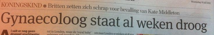 Spotted in Gazet van Antwerpen. Brits koningskind zorgt voor vreemde bijwerkingen.