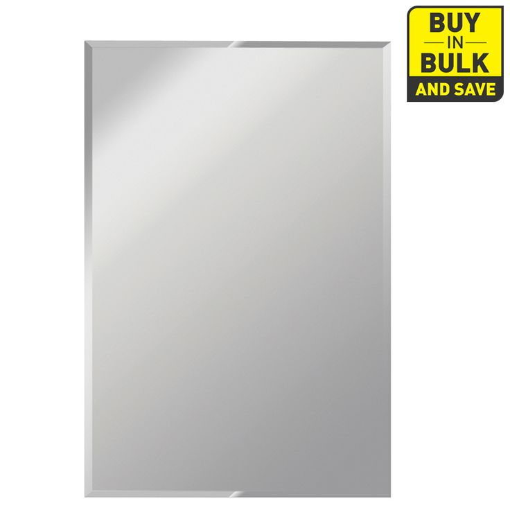 Gardner Glass Products 30-in x 60-in Silver Beveled Rectangle Frameless Traditional Wall Mirror