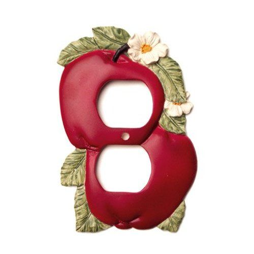 Red Apple Kitchen Decor Double Toggle Switch Plate Cover - Google Search