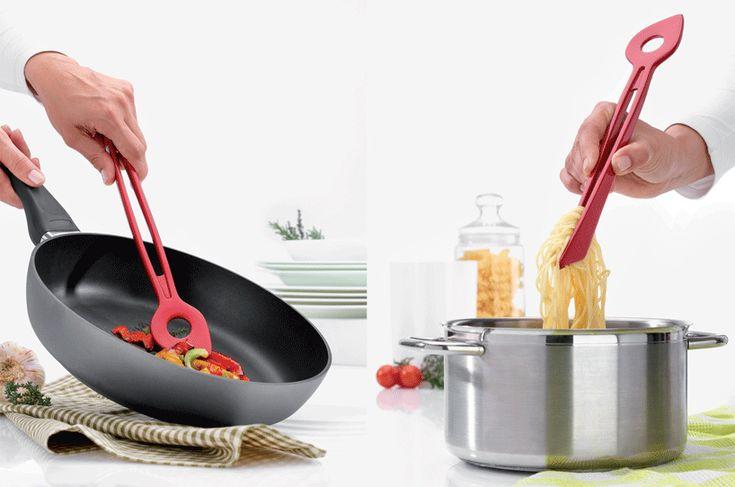 """""""Chef 2W"""" , pinza cuchara que facilitará las cosas en la cocina. Producto aleman de doble funcionalidad. Disponible en 3 colores diferentes. $6,900"""