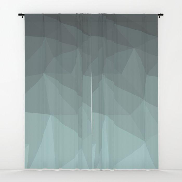 Light Steel Blue Polygon Window Curtains