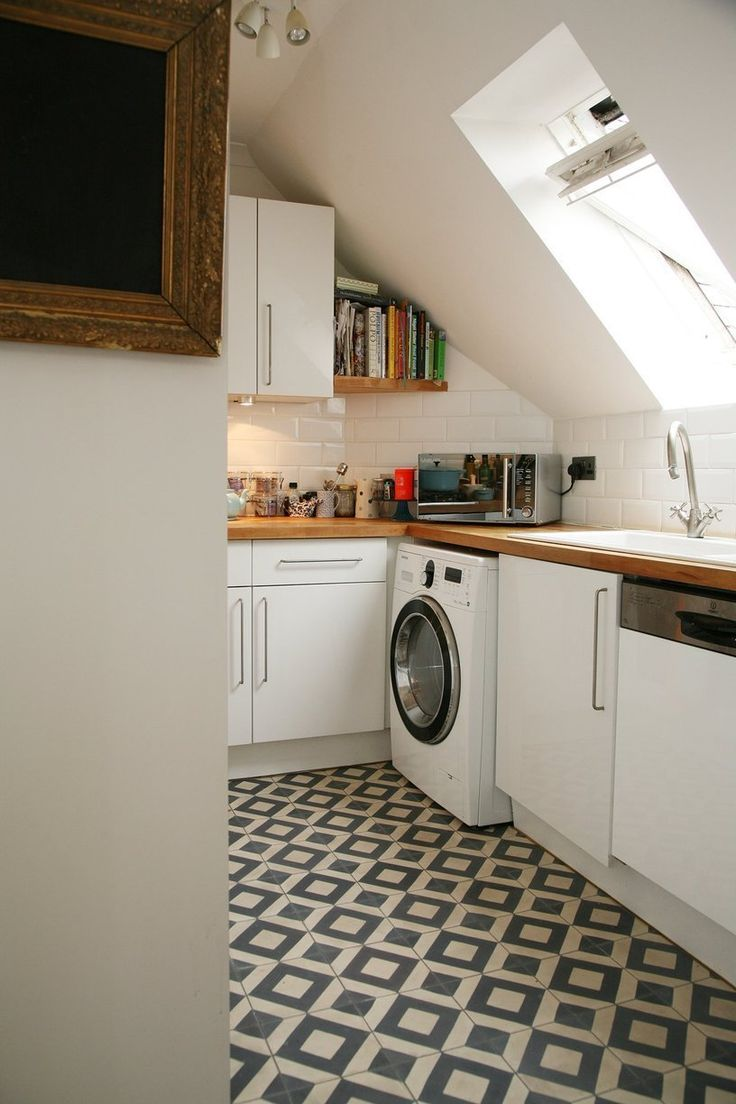 Isabelle S Top Floor Flat Of An Old Converted Church In London Small Kitchen Designsideas For Small Kitchenslondon