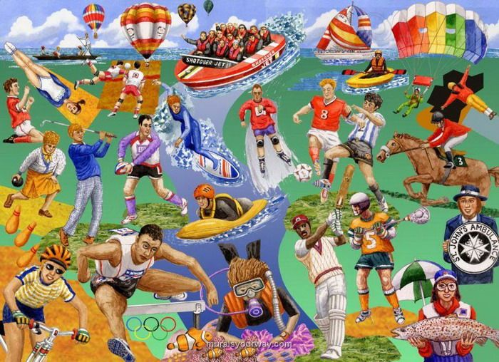 8 Best Sporting Murals Images On Pinterest