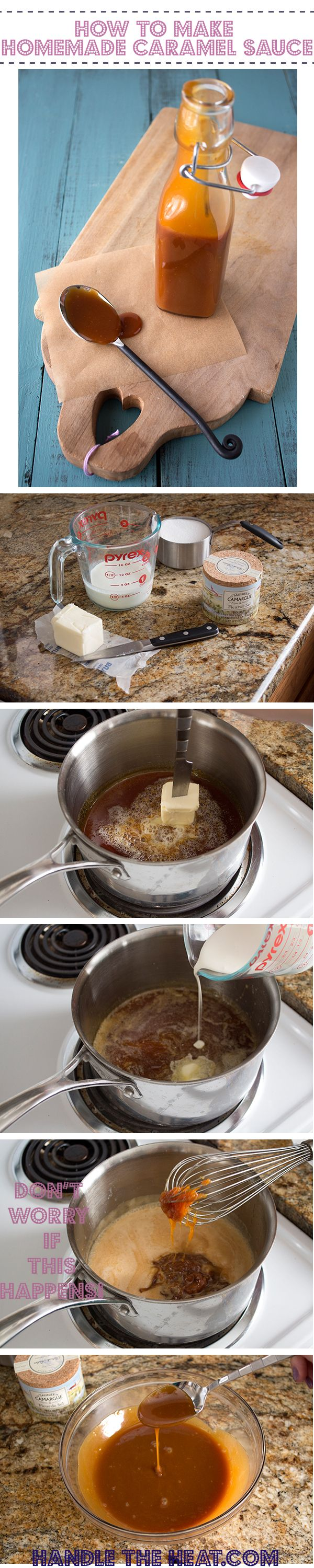 How to Make EASY Caramel Sauce with step-by-step photos AND a video! So much better than store-bought!