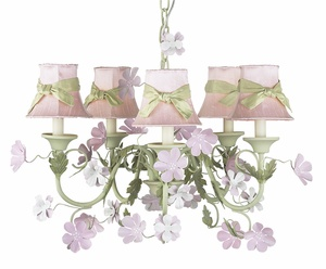 Princess Camille 5 Arm Chandelier Add A Sweet Touch Of Light To Your Babys Nursery