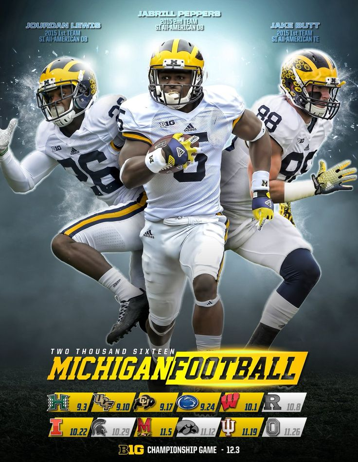 2016 UofM Schedule with power rankings