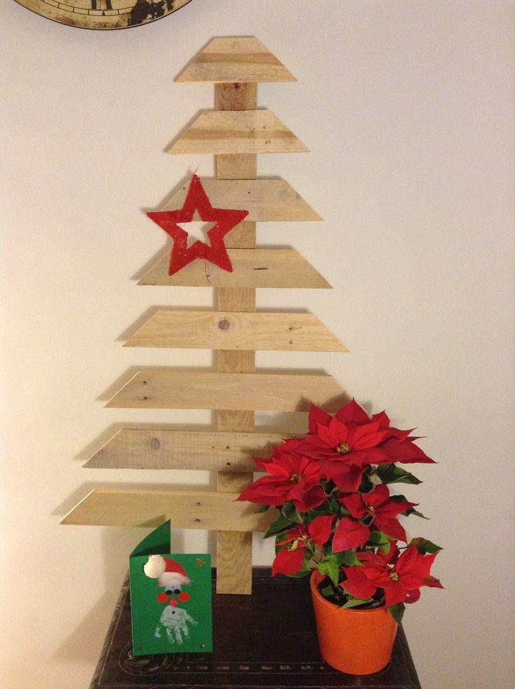 Árbol de Navidad hecho con pallet